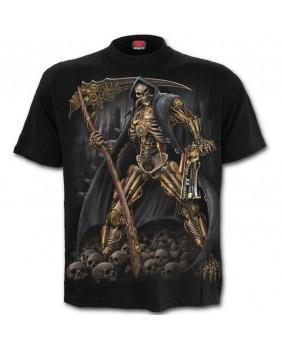 Tee shirt métal steampunk Skeleton