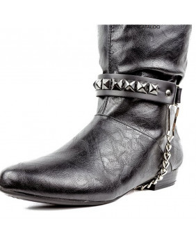 Tour de botte 01 rangs de studs noirs