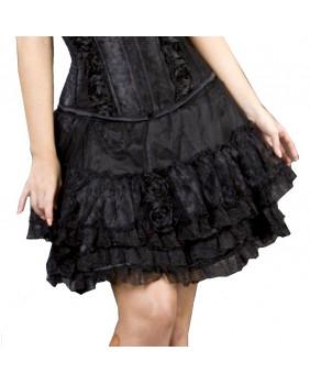 Jupe gothique romantique lolita noire Romance