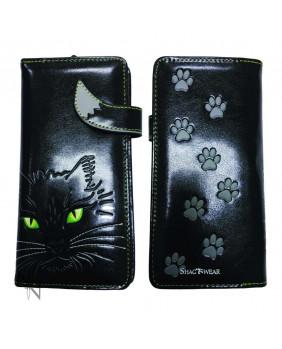 Porte monnaie punk goth Lucky Cat