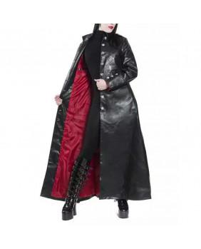 Manteau long gothique vampire en pvc
