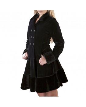 Manteau en velours noir Dark