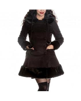 Manteau gothique noir Sarah Jane