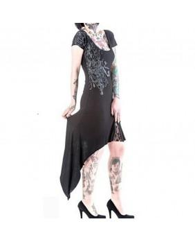 Robe gothique asymétrique noire