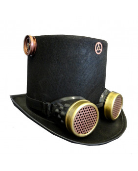 Chapeau steampunk avec goggles