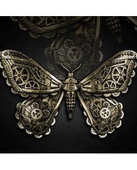 Barrette papillon steampunk