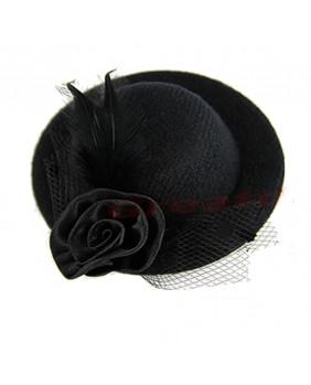 Barrette chapeau noir