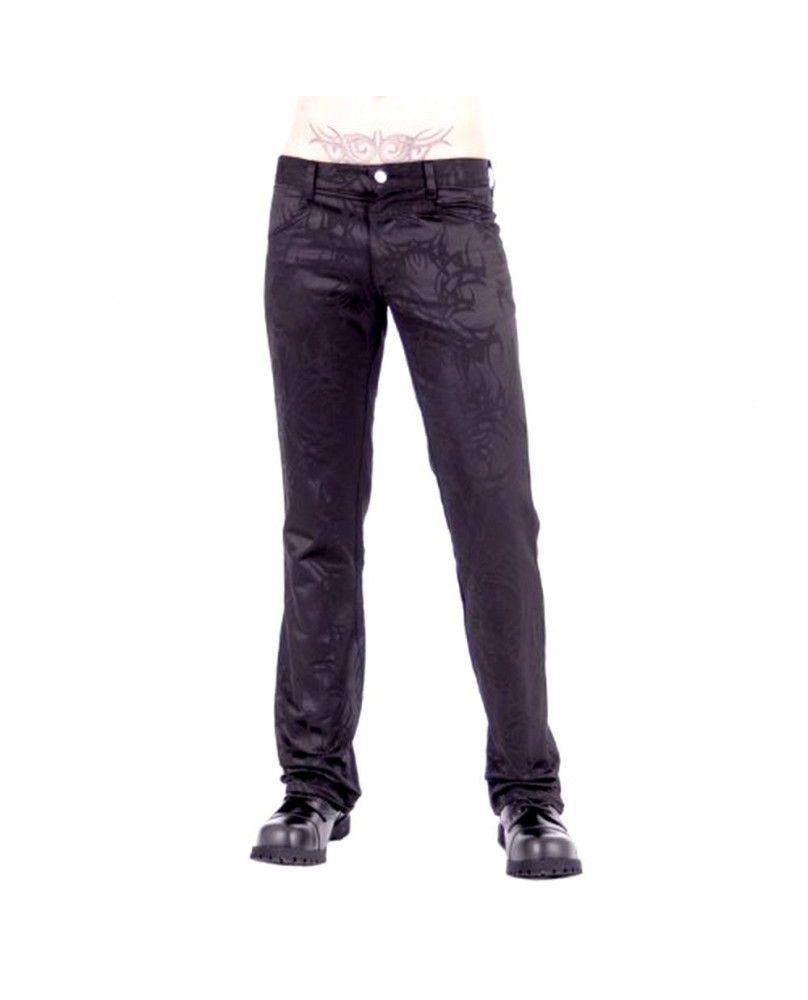 Pantalon gothique noir tribal