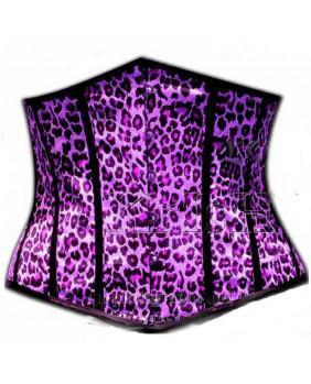 Serre taille violet léopard