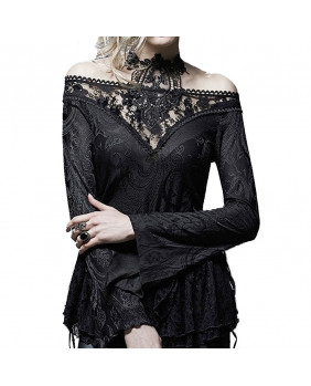 Haut gothique romantique noir T401