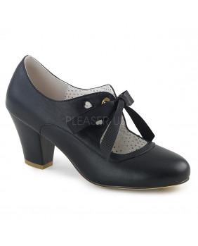 Pin Up Couture WIGGLE-32 escarpins Vintages rétro noir à talons