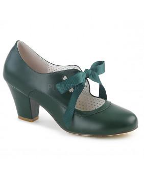 Pin Up Couture WIGGLE-32 escarpins Vintages rétro verts à talons