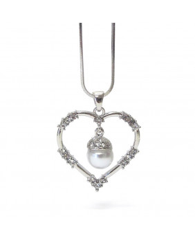 Pendentif coeur avec perle