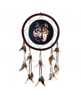 Attrape rêve tête de loup Wild Wolf