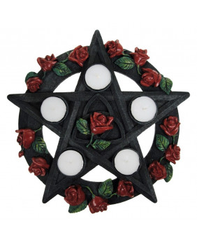 Bougeoir Pentagram Rose