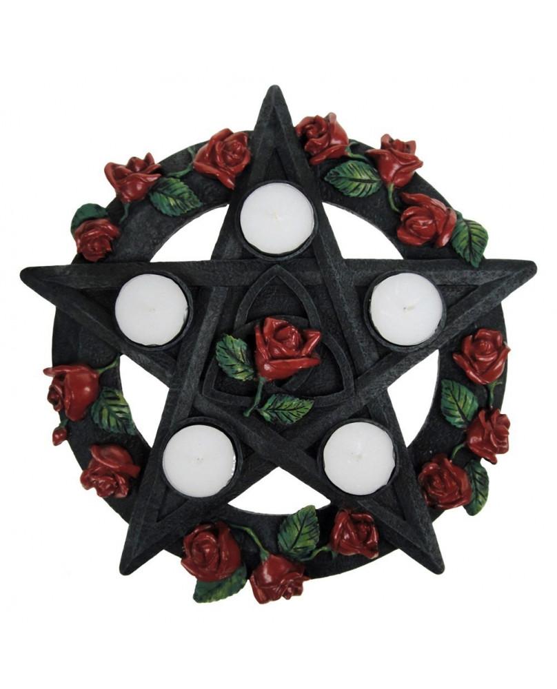 Bougeoir Pentagram Rose
