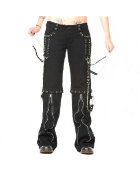 Pantalon gothique rivets chromés