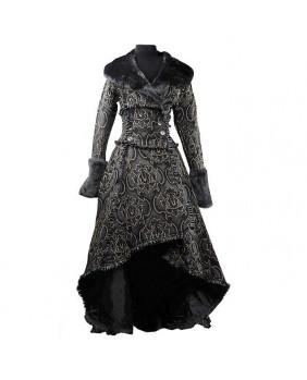 Manteau gothique romantique noir et doré