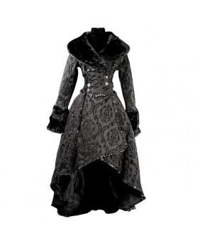 Manteau gothique romantique noir DS14-12