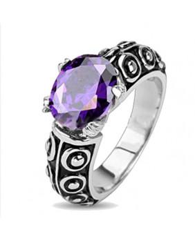 Bague pierre violette