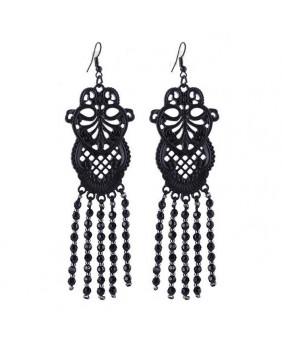 Boucles d'oreille gothique Black Lace