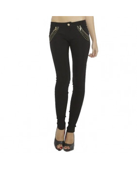 Pantalon noir stretch rock