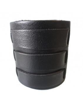 Bracelet large en cuir avec boucles