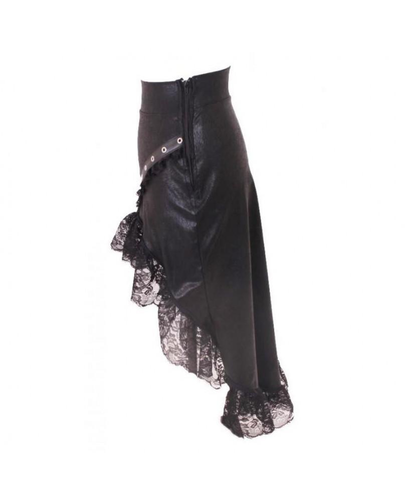 Jupe gothique steampunk asymétrique Hattie