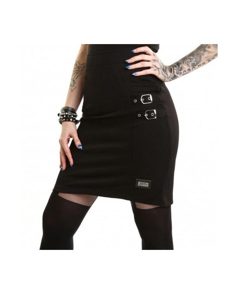 Jupe goth rock noire Norma