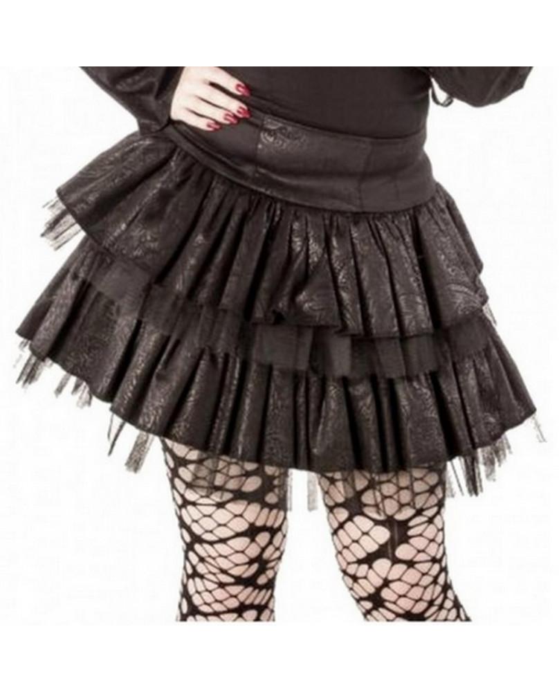 Jupe gothique noire Dark Paisley