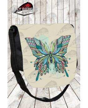 Besace avec rabat papillon celtique