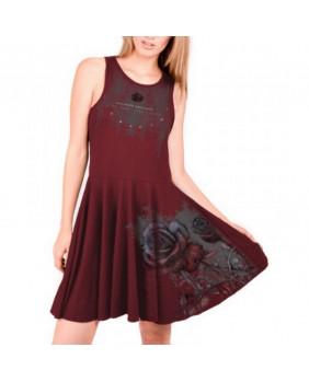 Robe courte gothique romantique rouge