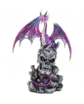 Figurine dragon et crâne Loyal Defender