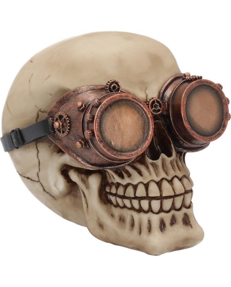 Statuette crâne steampunk Visionary