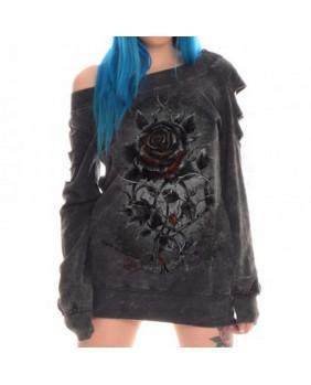 Sweat-shirt gothique rock Roses Nest