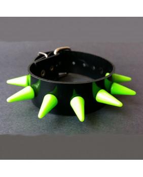 Bracelet cyber gothique noir et vert fluo