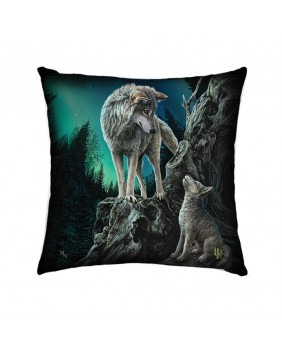 Coussin loups fantaisie Guidance
