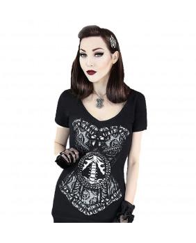 T-Shirt SKELETON CORSET