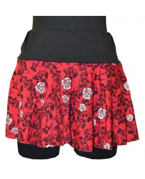 Mini jupe rétro rouge