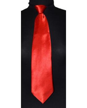 Cravate rouge à élastique