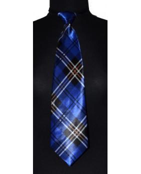 Cravate bleue à élastique