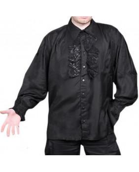 Chemise gothique à jabot Bares