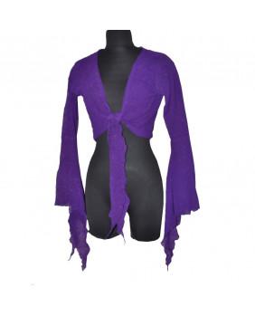 Boléro violet gothique