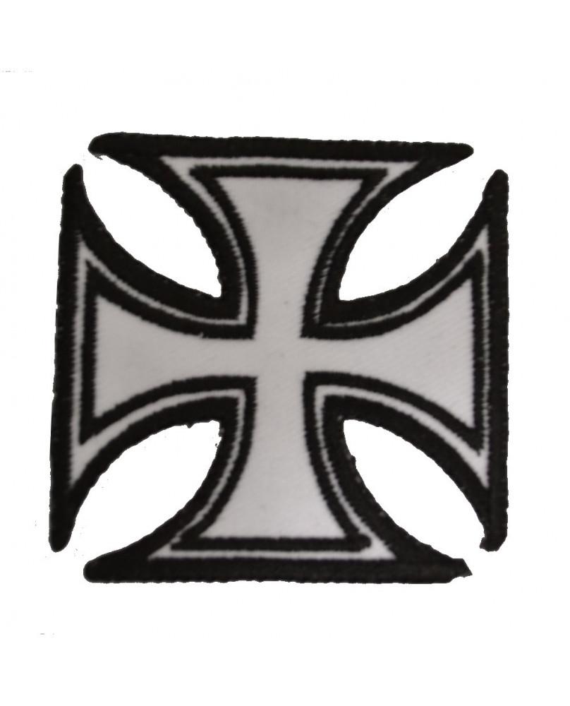 Patch croix de malte noire