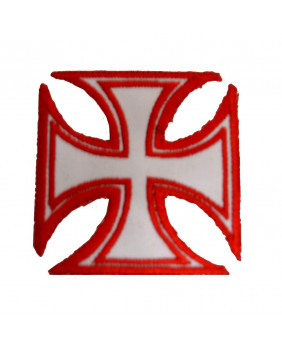 Patch croix de malte rouge