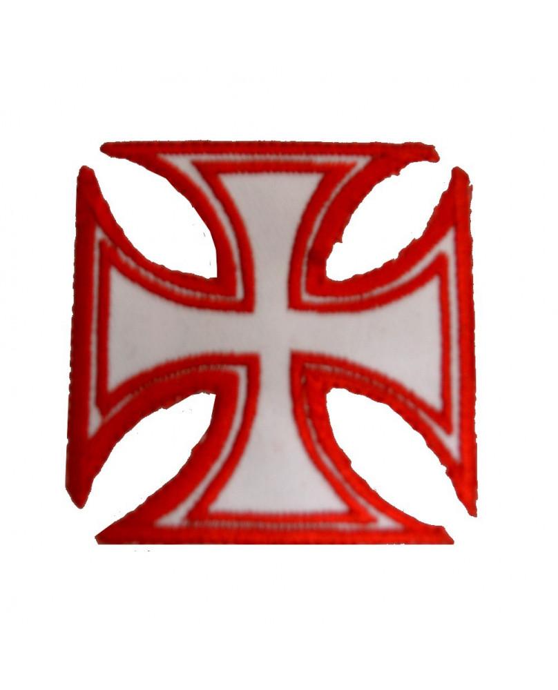 Patch croix de malte rouge