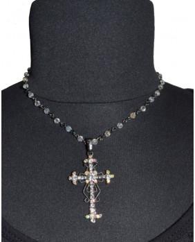 Croix avec cristaux