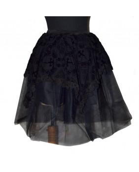 Jupe courte gothique noire