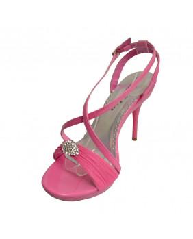 Sandales fashion roses à talons aiguilles