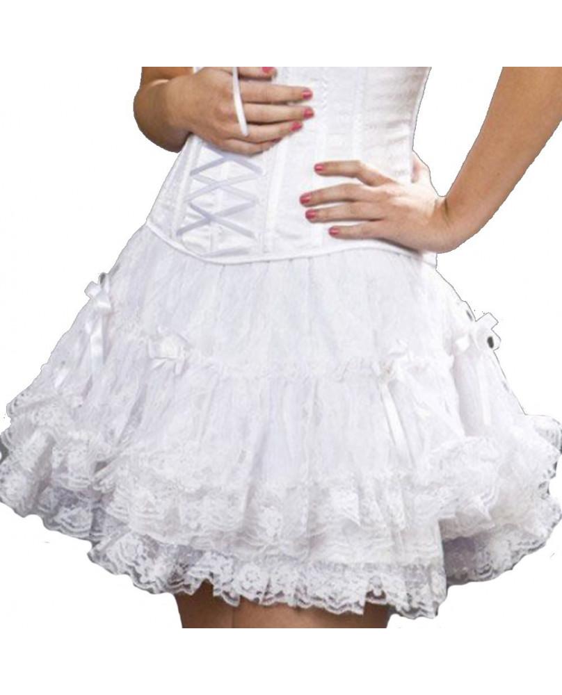 Jupe dentelle blanche Lolita Burleska